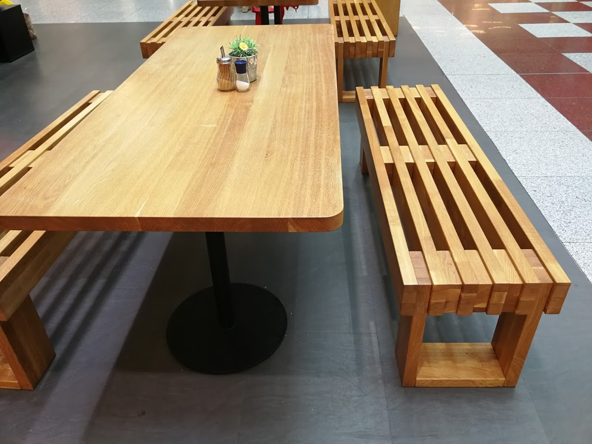 cce153108 Dubové lavice a dubové stoly na zakázku